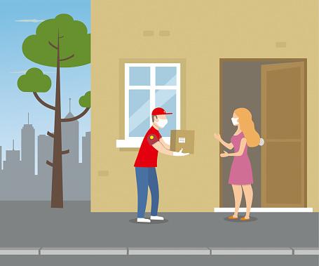 Safe delivery stock illustration