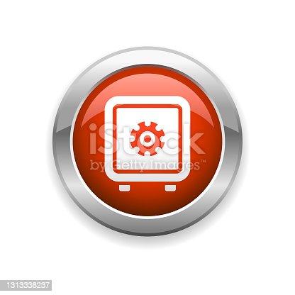 istock Safe Finance Glossy Icon 1313338237