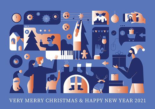 Safe Happy December Holidays Greeting