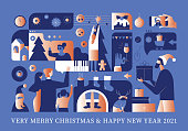istock Safe Happy December Holidays Greeting 1285492232
