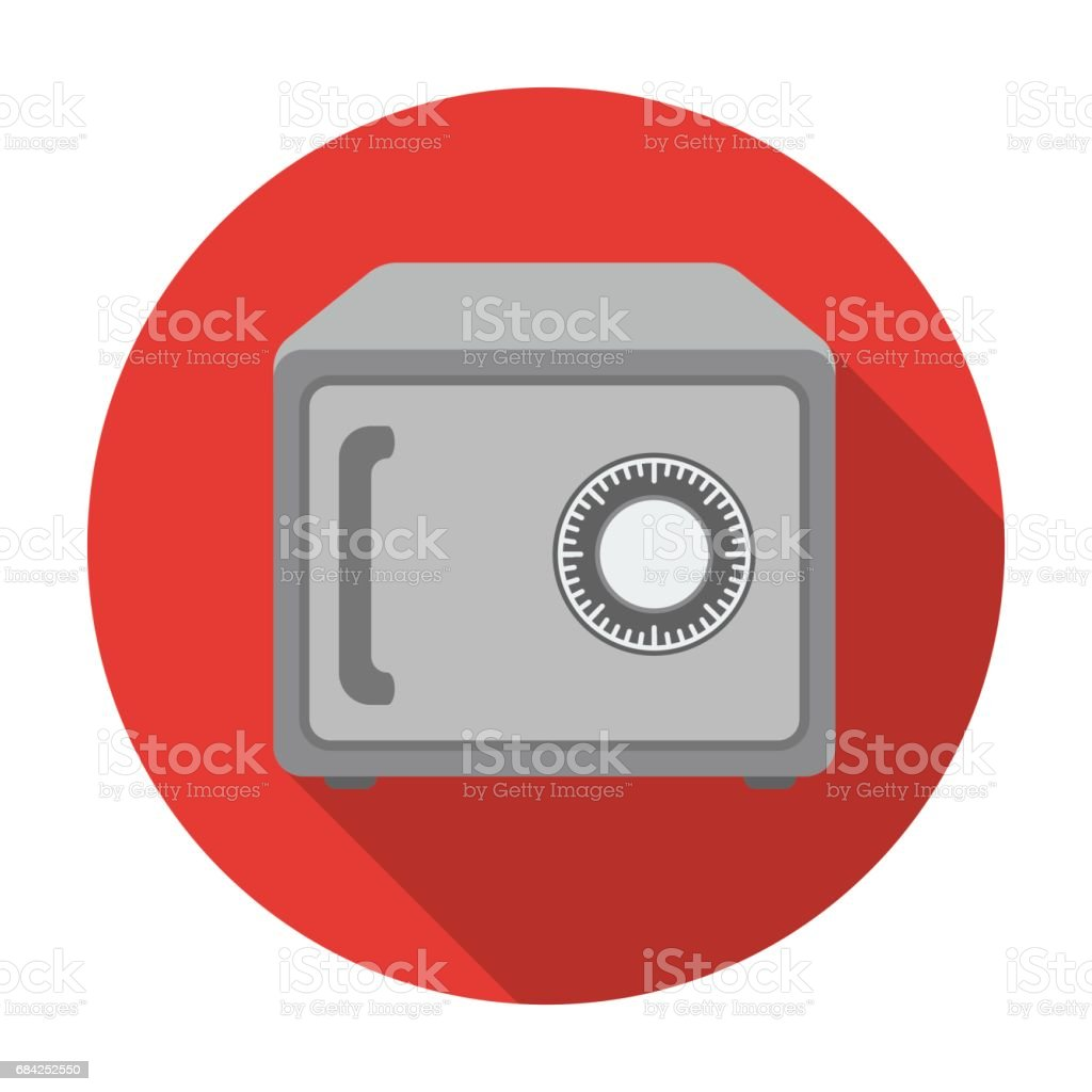 Safe icon in flat style isolated on white background. Hotel symbol stock vector illustration. royalty-free safe icon in flat style isolated on white background hotel symbol stock vector illustration stock vector art & more images of art