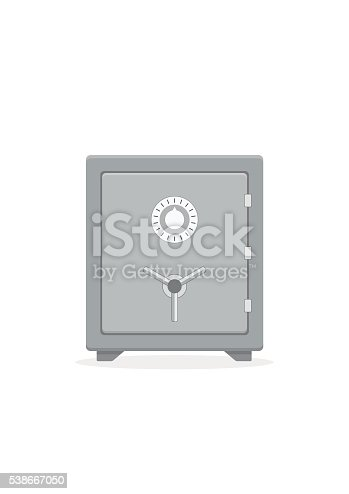 safe icon metal box secure and money concept symbol stock vector art more images of bank. Black Bedroom Furniture Sets. Home Design Ideas