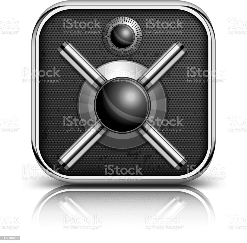 Safe icon royalty-free stock vector art