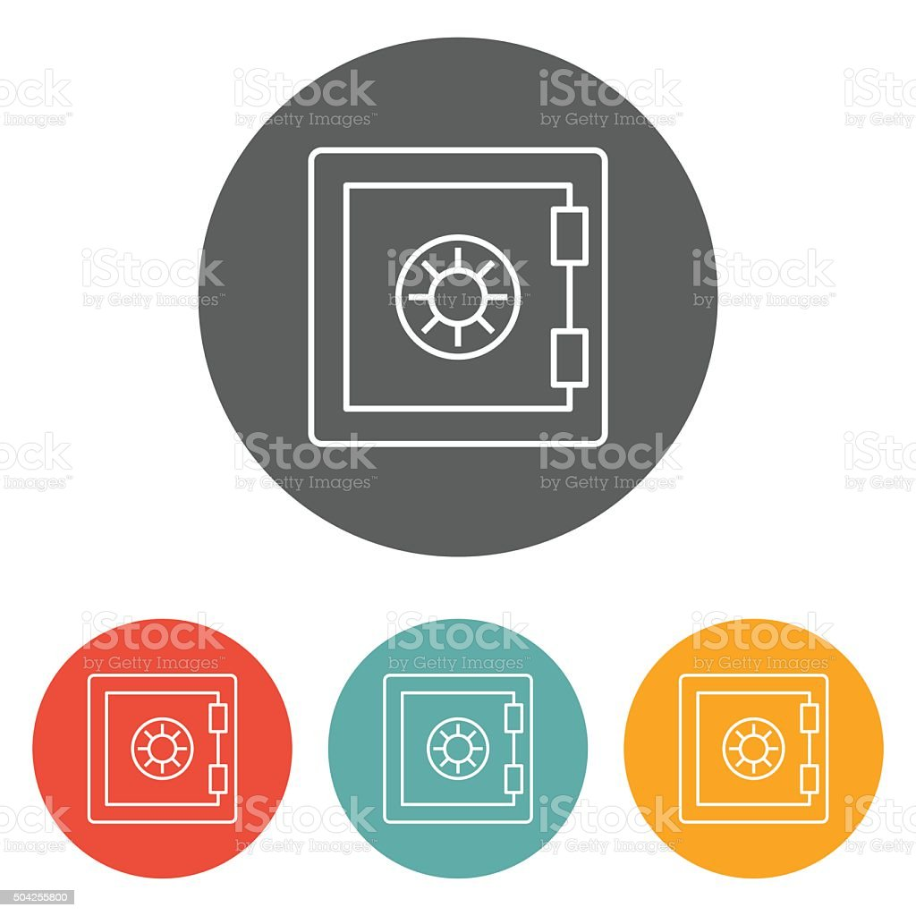 safe icon vector art illustration