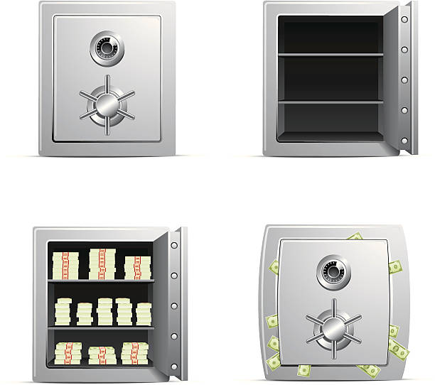 Safe Icons http://www.cumulocreative.com/istock/File Types.jpg safety deposit box stock illustrations