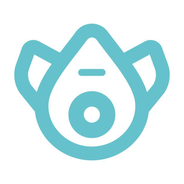ilustrações de stock, clip art, desenhos animados e ícones de safe mask vector icon - ffp2