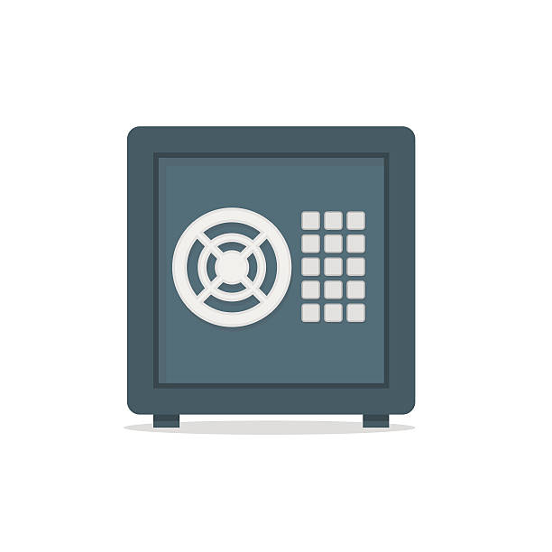 Safe metal box money secure concept symbol. Safe metal box money secure concept symbol vector safes and vaults stock illustrations