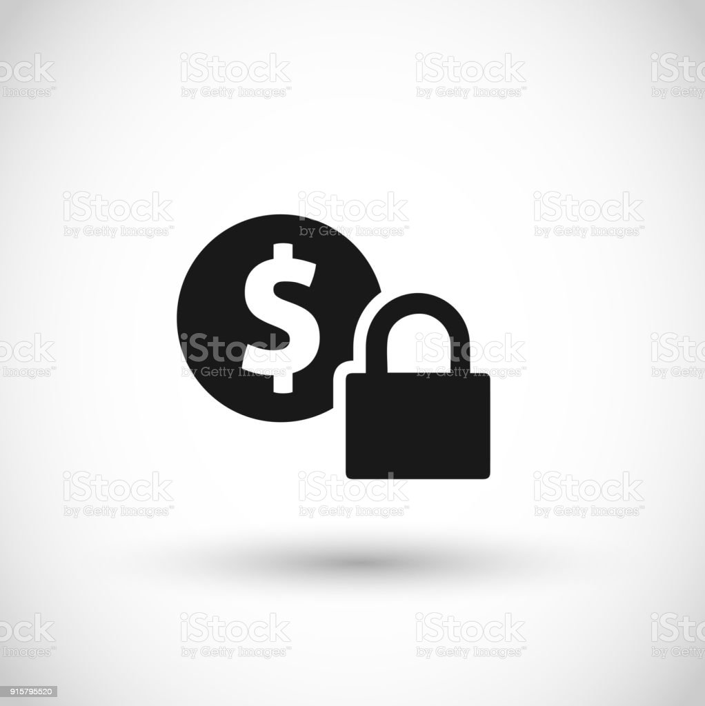 Safe payment icon vector vector art illustration