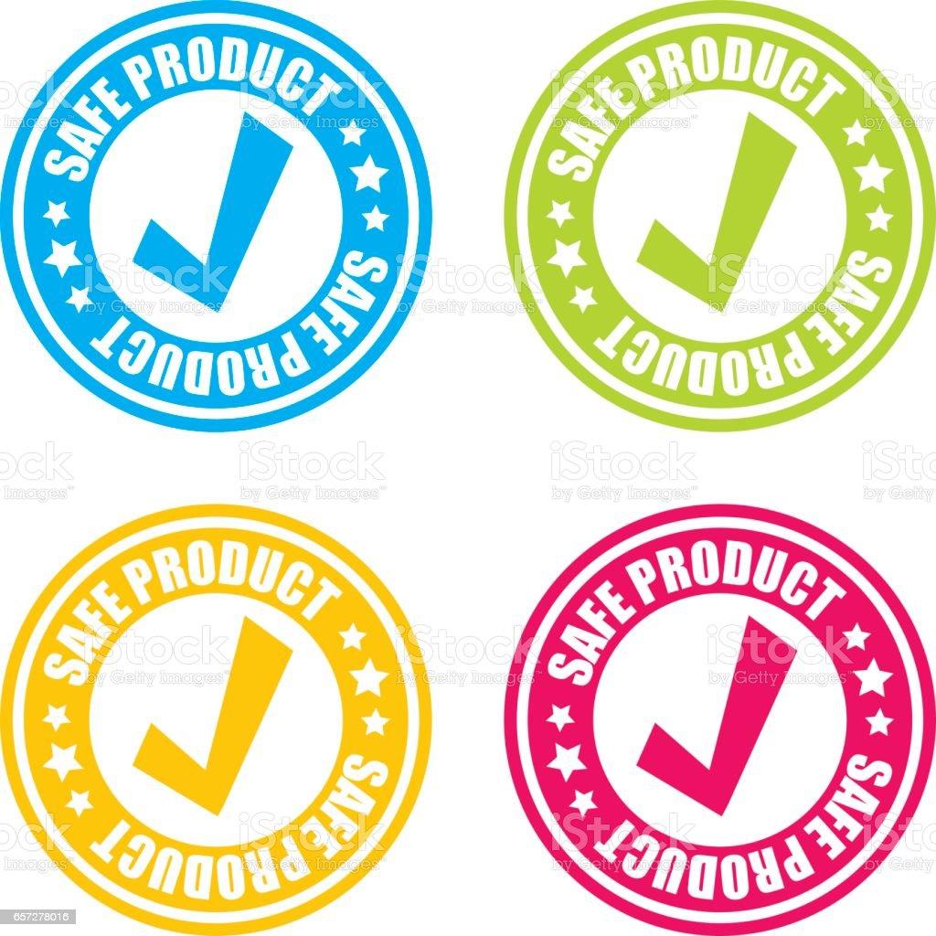 Safe Product Stamp Labels vector art illustration