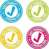 Safe Product Stamp Labels