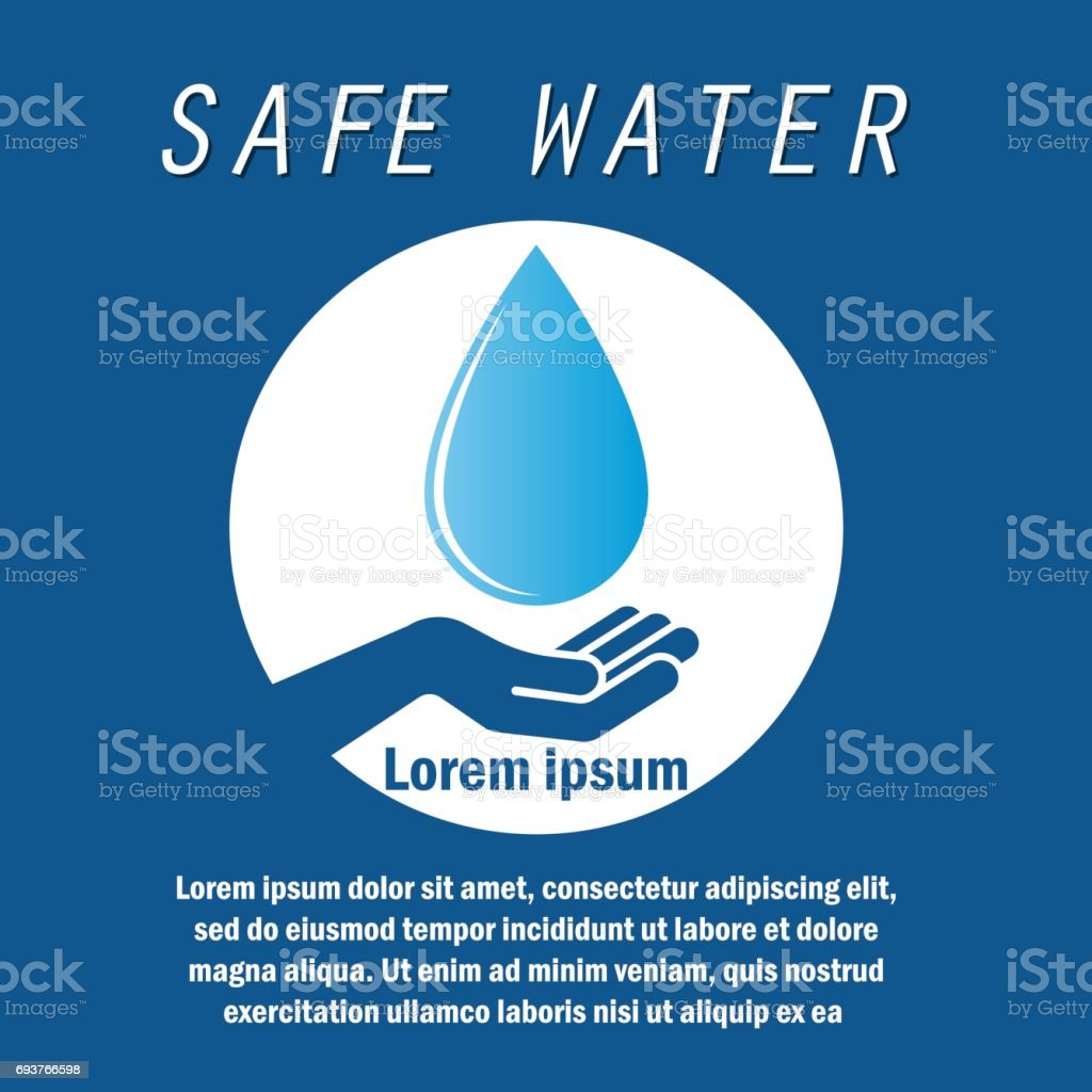 Safe Save Water Concept With Text Space For Your Slogan Tagline