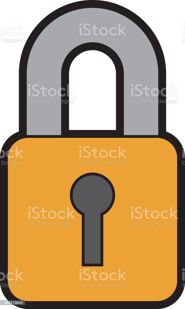 cadenas sécurisé sécurité cadenas sécurisé sécurité – cliparts vectoriels et plus d'images de affaires libre de droits
