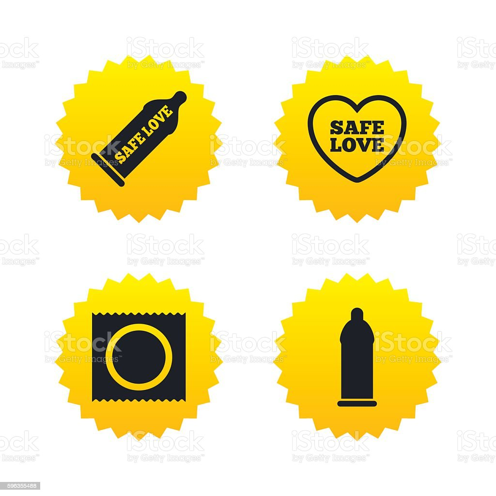 Safe sex love icons. Condom in package symbols. royalty-free safe sex love icons condom in package symbols stock vector art & more images of aids