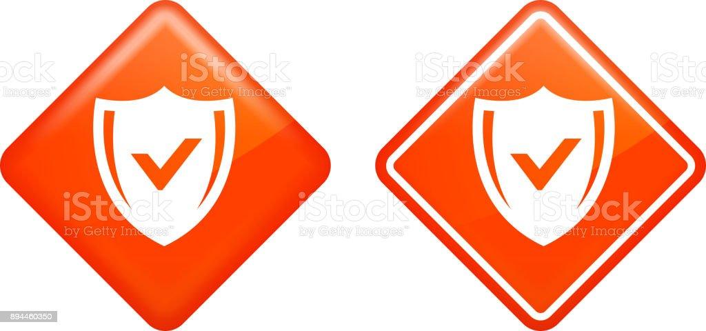 Safe Shield. vector art illustration