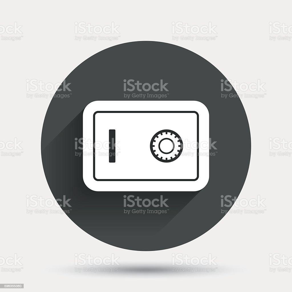 Safe sign icon. Deposit lock symbol. royalty-free safe sign icon deposit lock symbol stock vector art & more images of badge