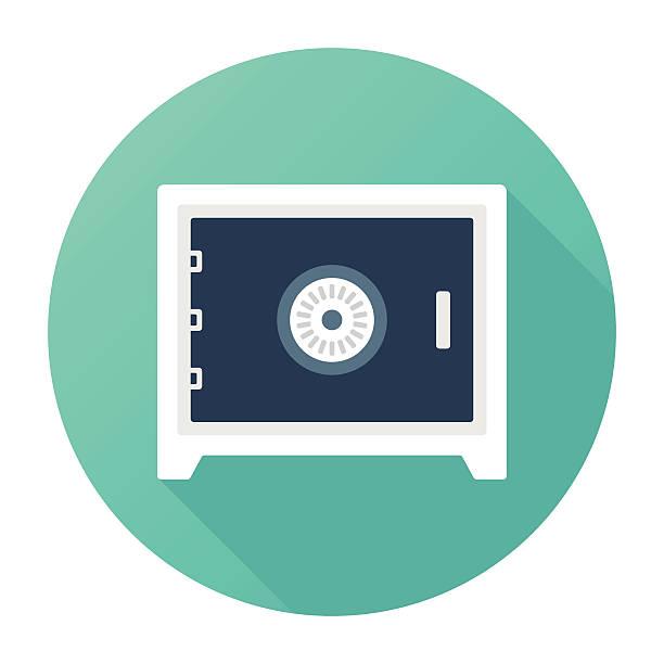 stockillustraties, clipart, cartoons en iconen met safe vault - brandkast beveiligingsapparatuur