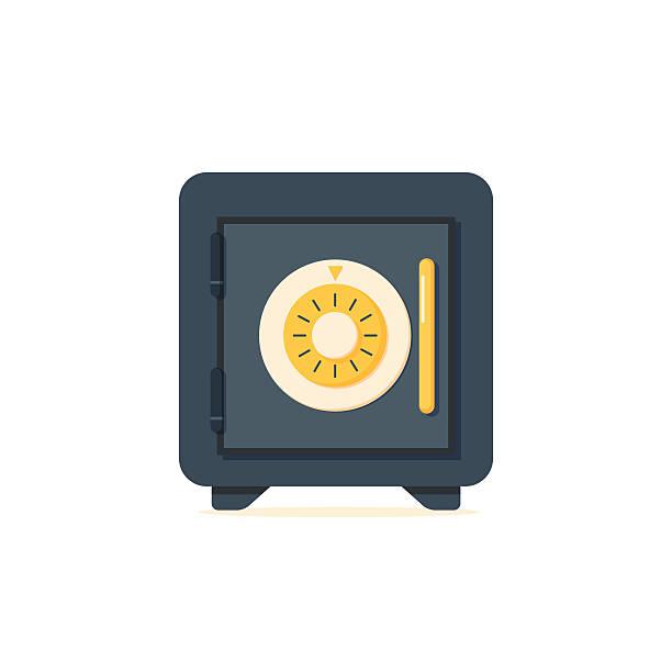 safe vektor-symbol in flache-stil. - safe stock-grafiken, -clipart, -cartoons und -symbole