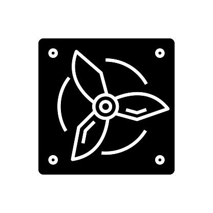 Safe view black icon, concept illustration, vector flat symbol, glyph sign