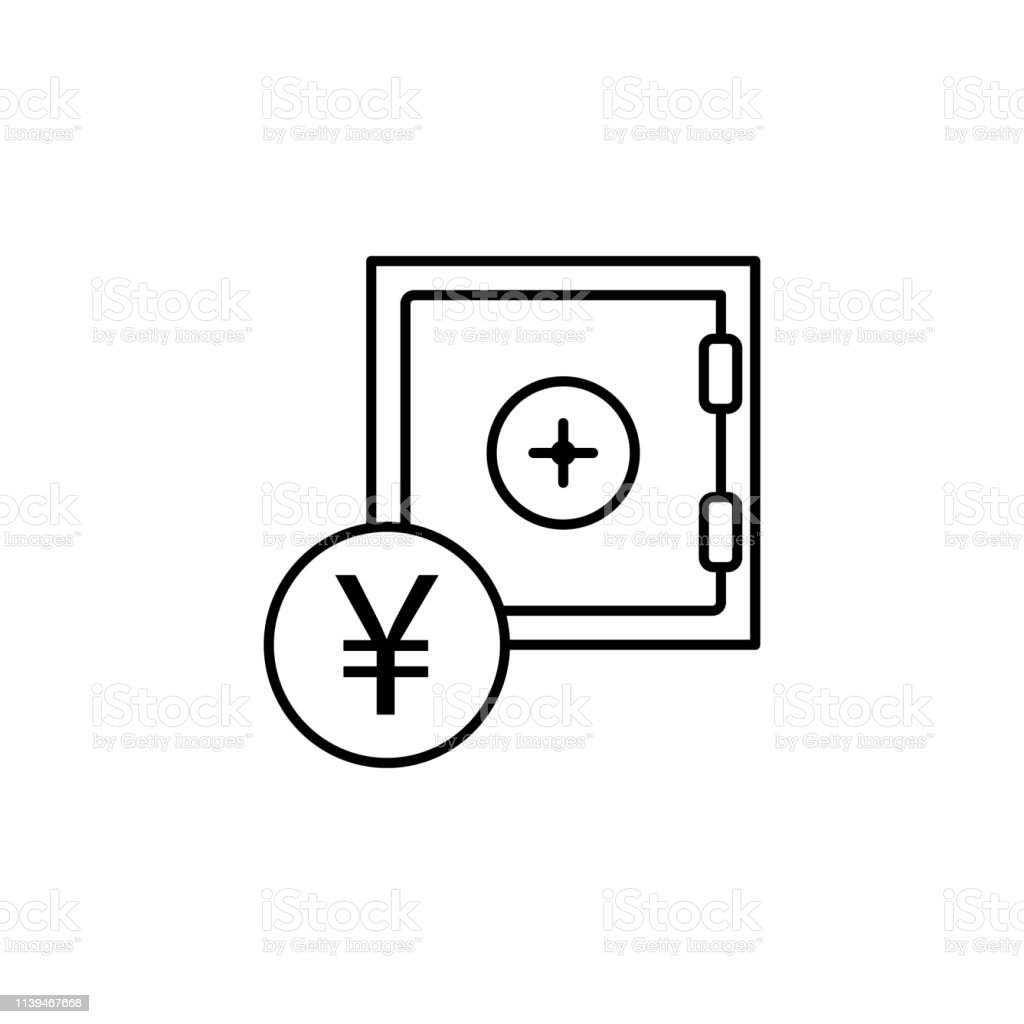 safe, yuan icon. Element of finance illustration. Signs and symbols...
