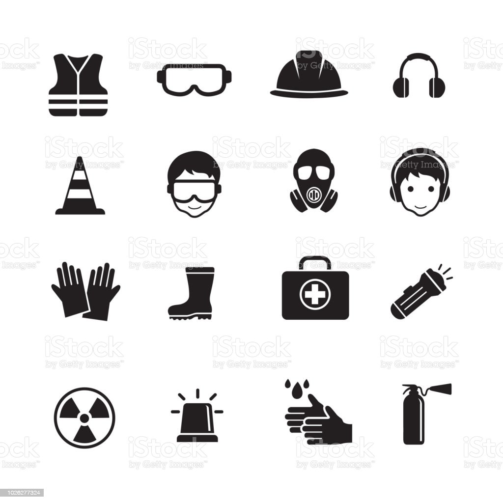 Safety and Health Icons - Royalty-free Bota arte vetorial