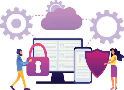 Safety and security of personal data concept