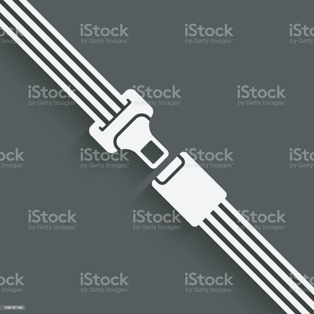 safety belt symbol vector art illustration