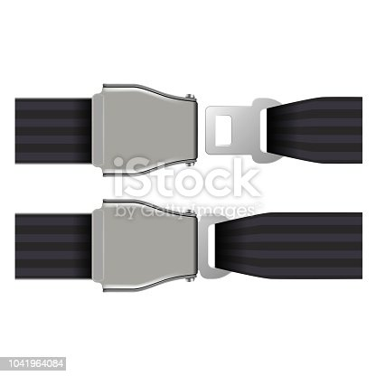 photorealistic vector safety belt