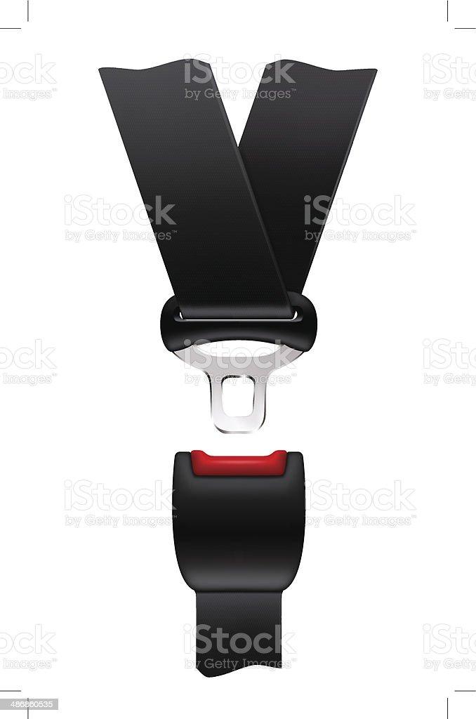 Cinturón de seguridad - ilustración de arte vectorial