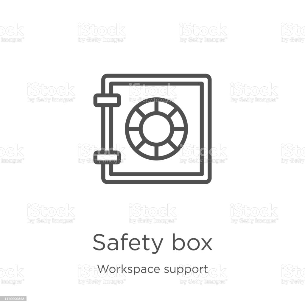 safety box icon. Element of workspace support collection for mobile...