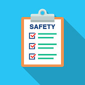 istock Safety Document List With Check Marks And Clipboard 1134590559