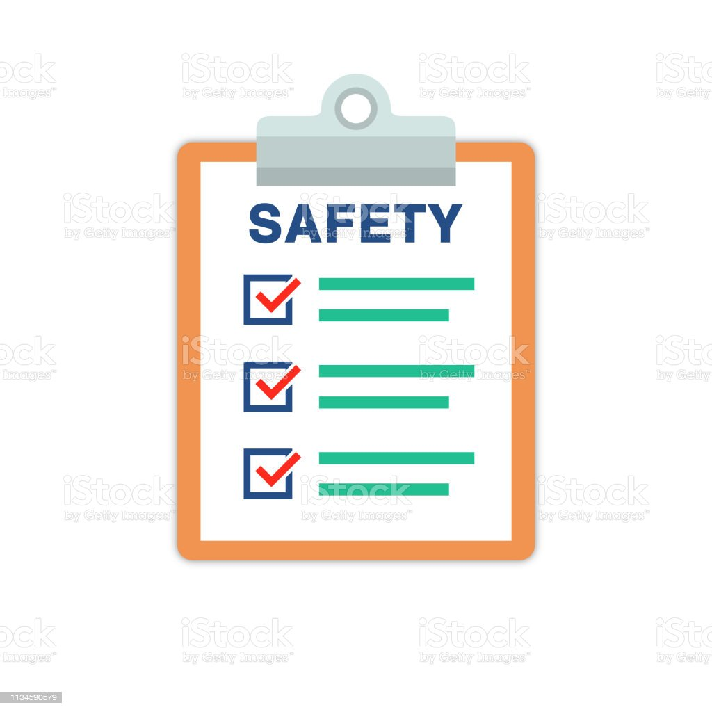 Safety Document List With Check Marks And Clipboard Stock Illustration Download Image Now Istock