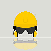 Safety Equipment for Industrial worker vector Illustration for template design