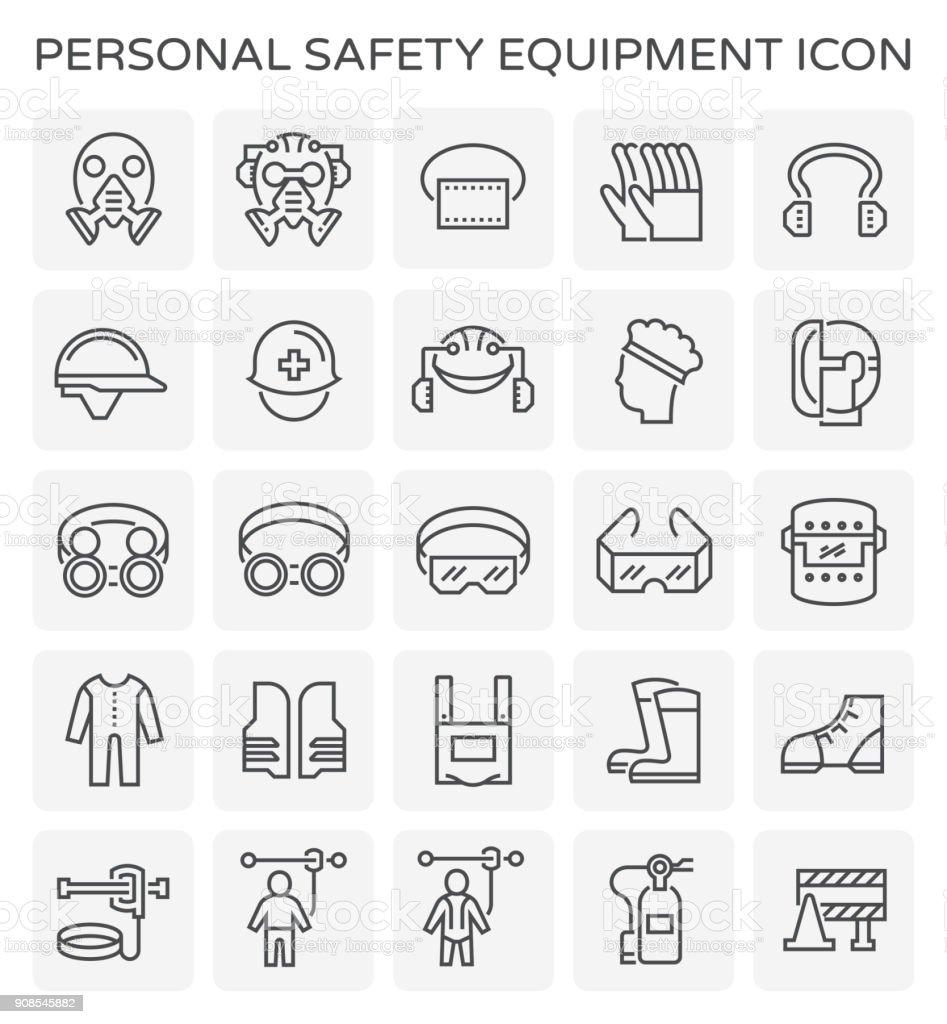 icono del equipo de seguridad - ilustración de arte vectorial