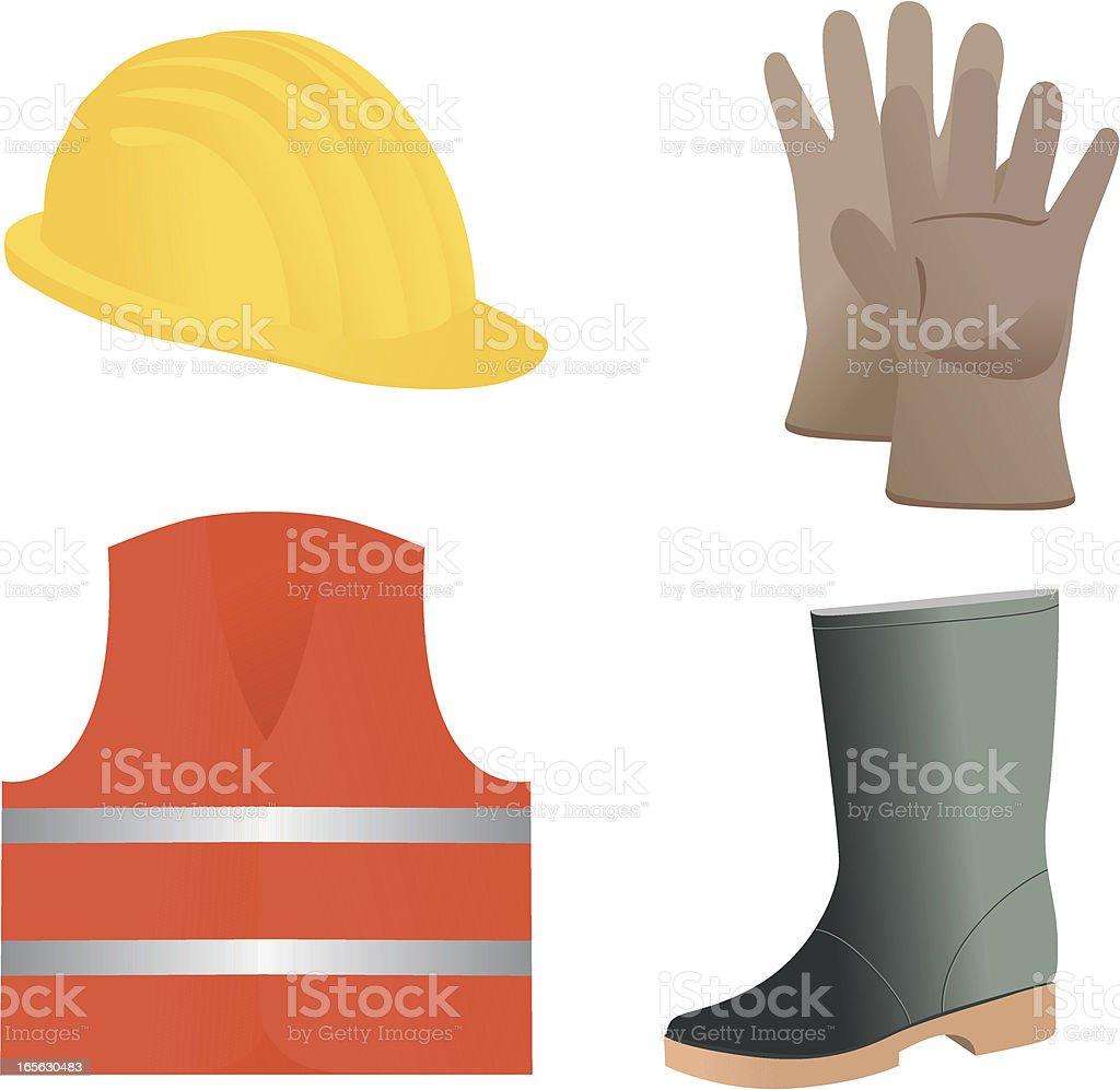 Safety equipment vector art illustration