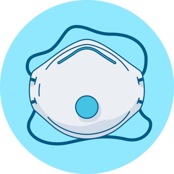 sicherheits-gesichtsmaske ffp2 ffp3 oder kn95 kann helfen, die ausbreitung von coronavirus durch filterung zu verhindern - ffp2 maske stock-grafiken, -clipart, -cartoons und -symbole