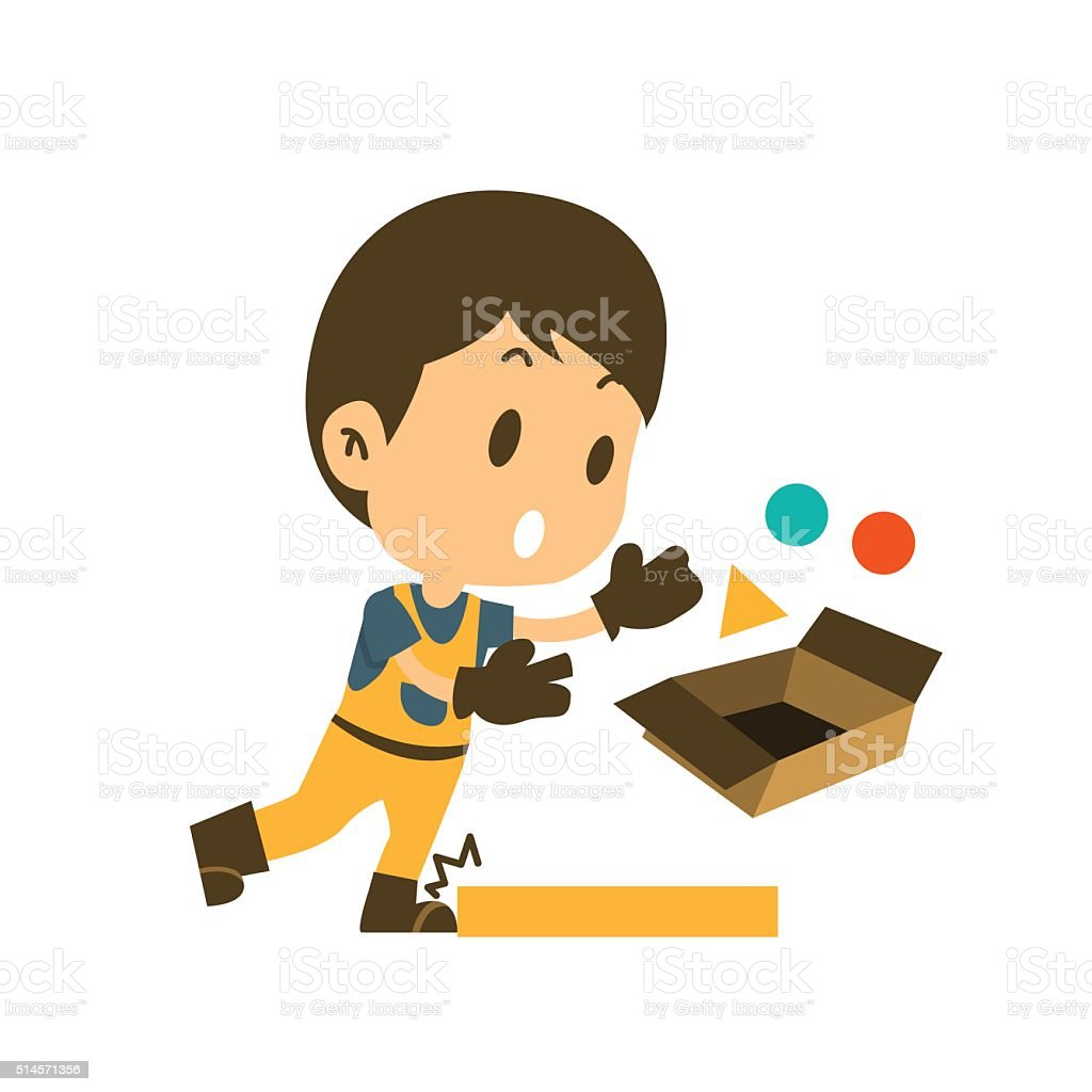 safety first concept, character vector art illustration