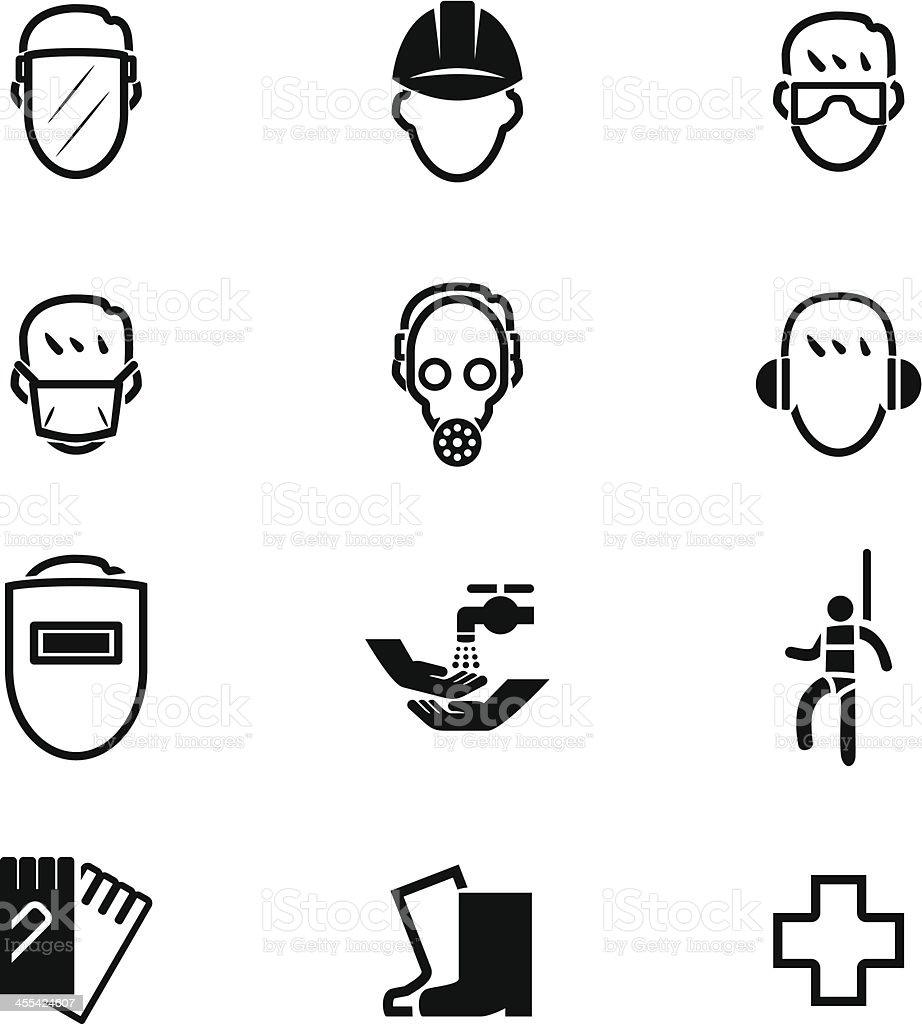 Sicherheit erste Icon-Set – Vektorgrafik