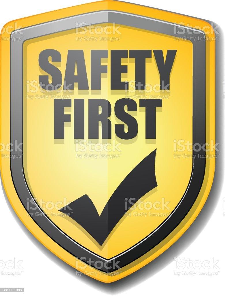 Sicherheit erste Abbildung – Vektorgrafik