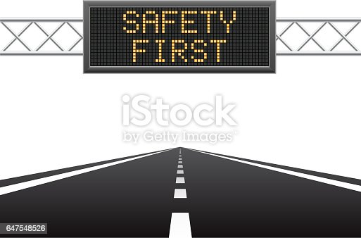 istock Safety first on LED screen 647548526