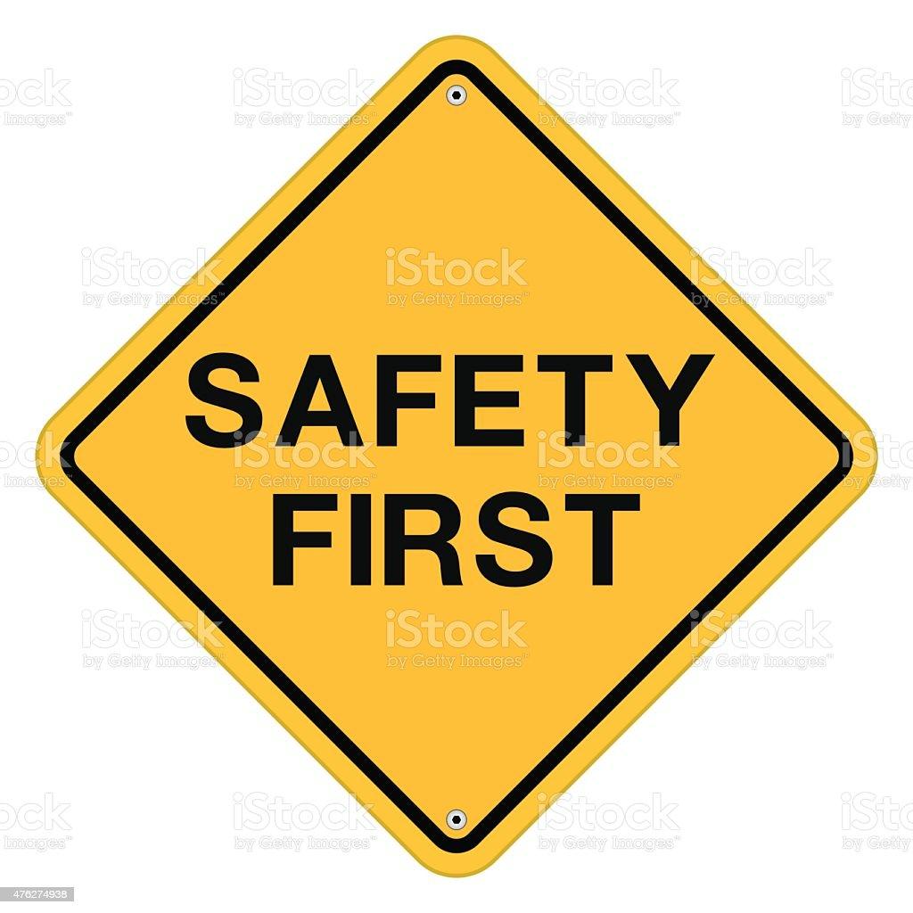 Safety First Symbol vector art illustration