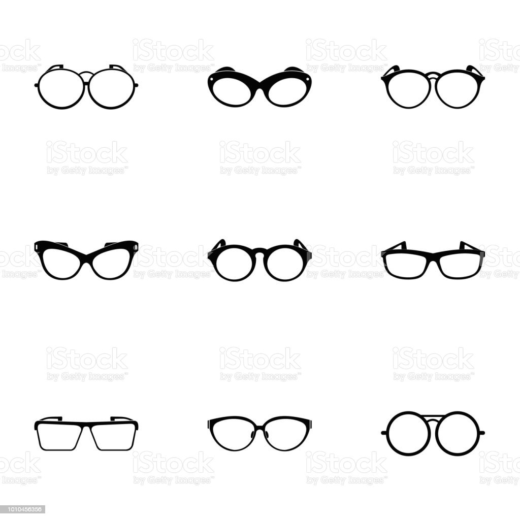 Safety Glasses Icons Set Simple Style Stock Vector Art More Images