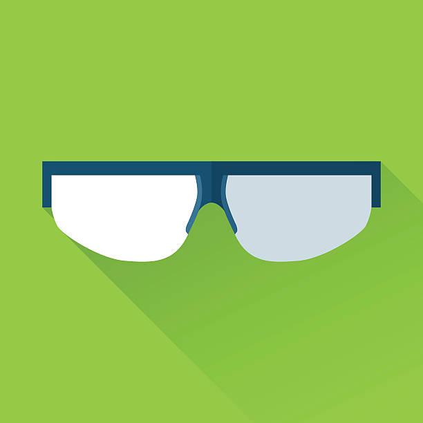 Schutzbrille flache Farbe icon – Vektorgrafik