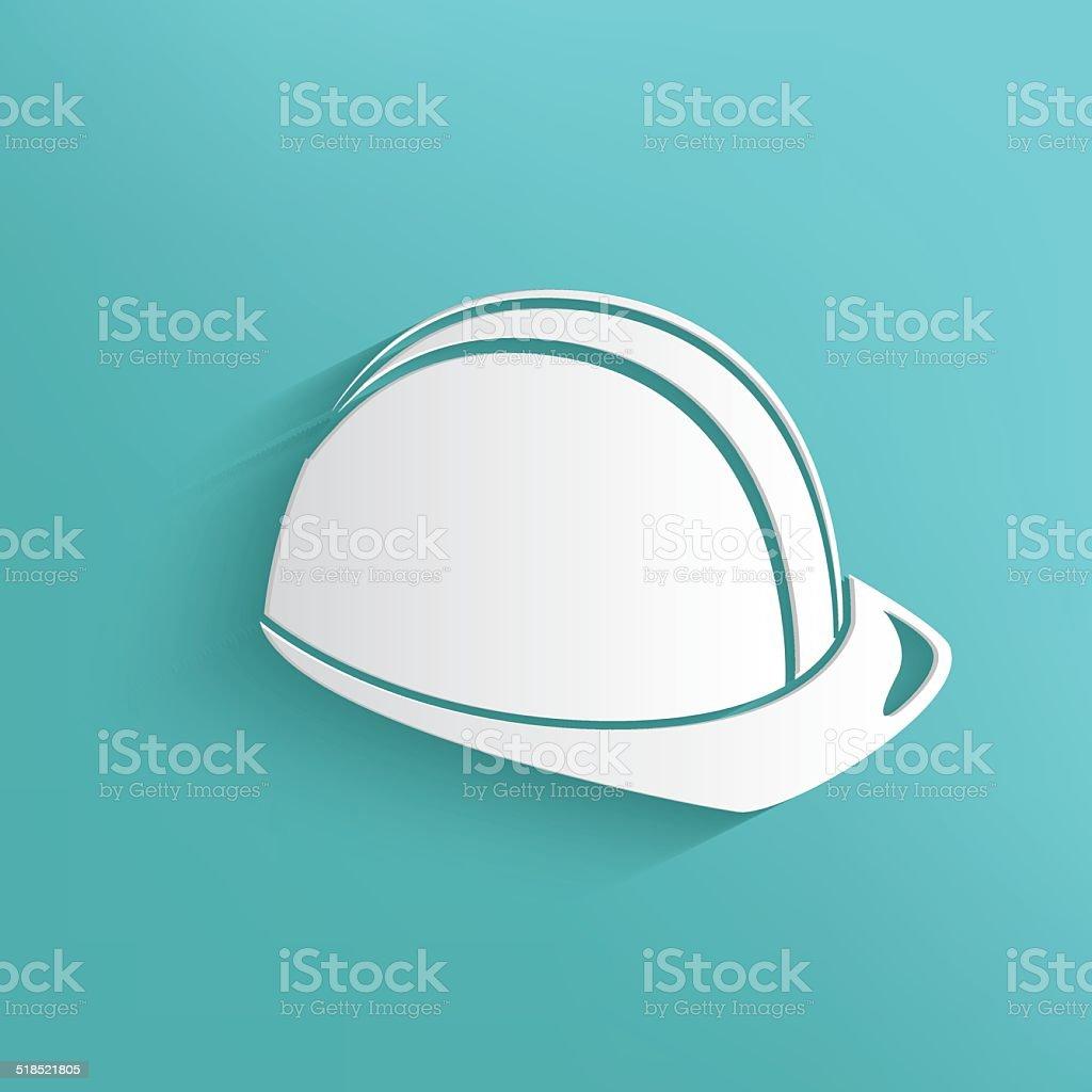 Safety hat symbol on blue background,clean vector vector art illustration
