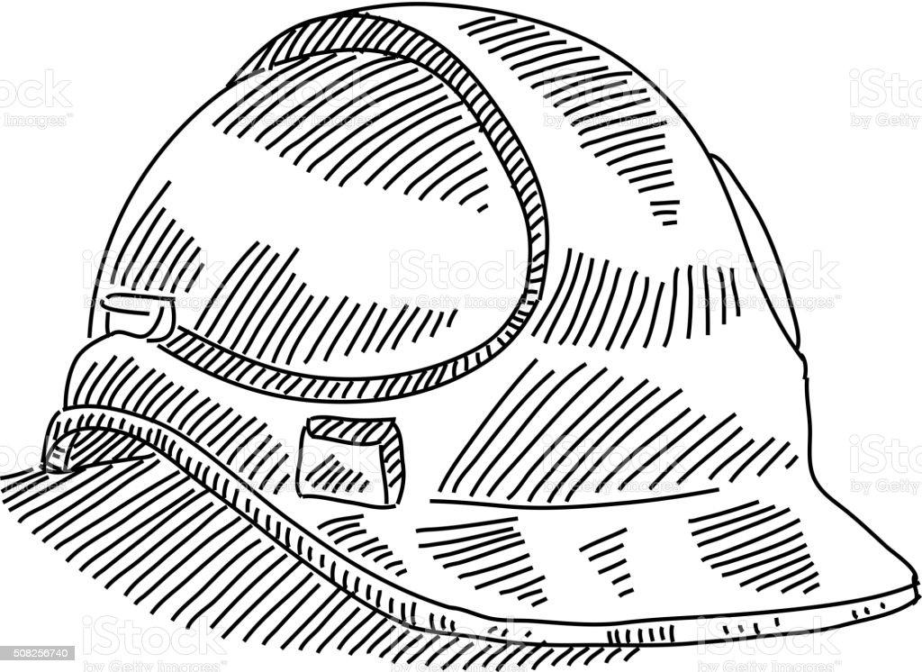 Sicherheit Helm Zeichnung Stock Vektor Art Und Mehr Bilder Von