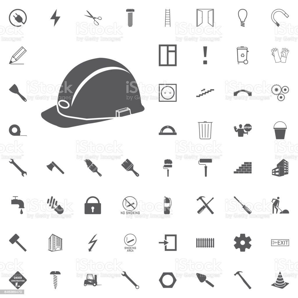 safety helmet, hard hat Construction set vector art illustration