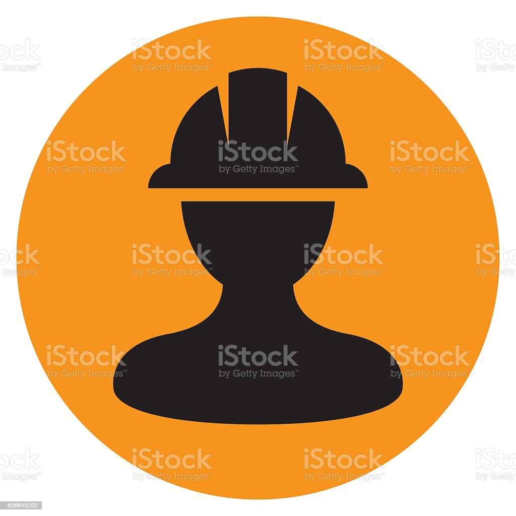Safety Helmet Icon vector art illustration