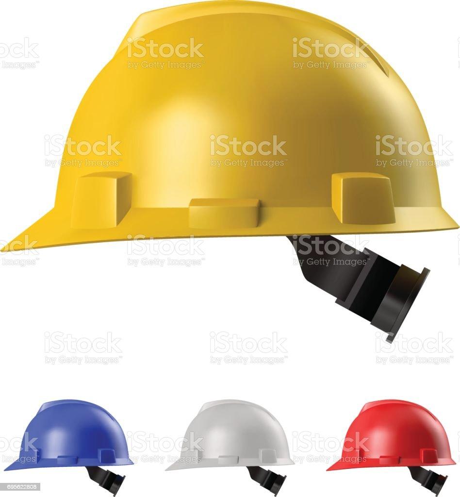 Safety helmet vector art illustration