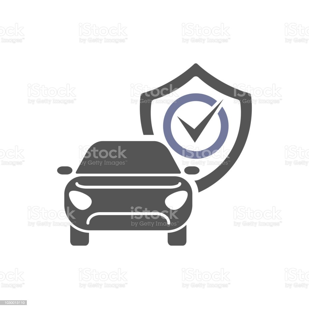 Car Repair Insurance >> Safety Insurance Car Isolated Icon On White Background Auto