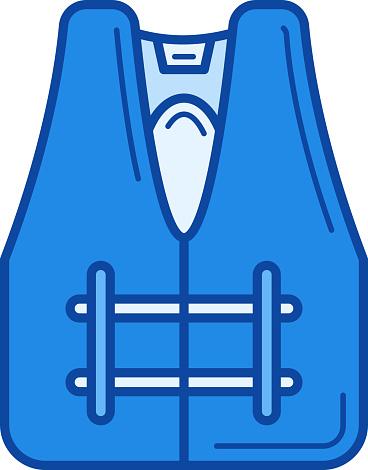 Safety jacket line icon