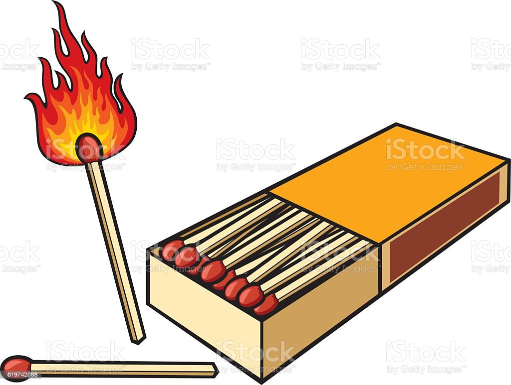 Safety Matches And Matchbox Stock Vector Art  for Matches Clip Art  103wja